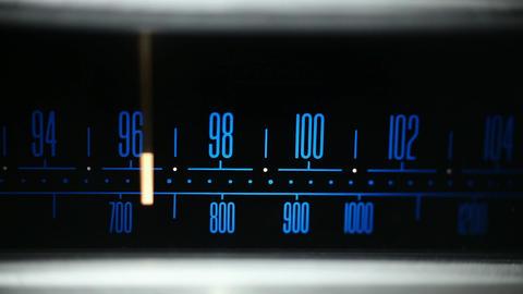 Finding FM radio station Footage