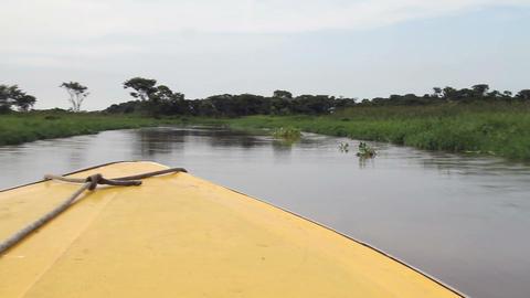 Boat ride on lake in Venezuela Footage