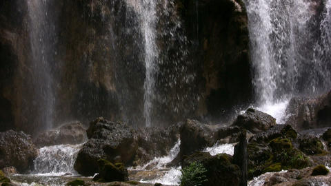 Waterfall in Sichuan, China Footage