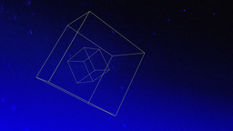 Floating three dimensional cubes Footage