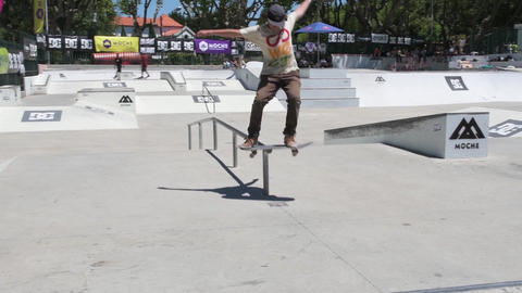 Pedro Rodrigues during the DC Skate Challenge Footage