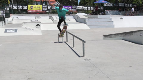 Alfredo Santos during the DC Skate Challenge Footage