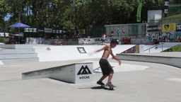 Leandro Pinto during the DC Skate Challenge Footage