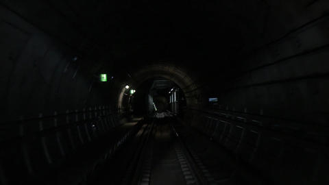 Inside the Subway Tunnel Footage