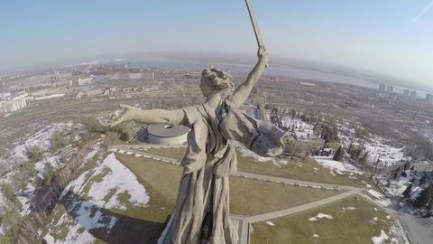 Mamaev Kurgan and Motherland Calls statue Footage