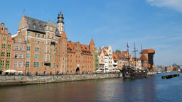 View of the old town in Gdansk, Poland Footage
