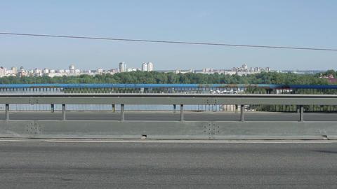 Public Transport On Bridge Footage