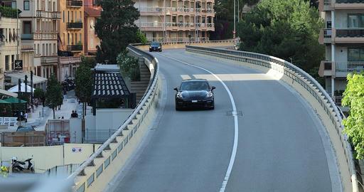 Man Driving Porsche Panamera In Monaco Footage