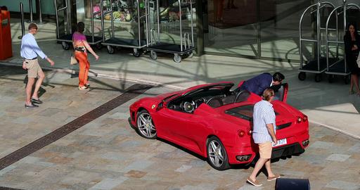 Red Ferrari F430 Spider Footage