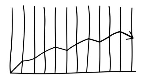 Infographic element - arrow growth graph Animation