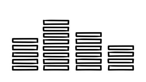 A hand-drawn bar chart consisting of segments Footage