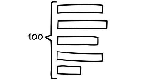 Freehand Diagram of Horizontal Bars Footage