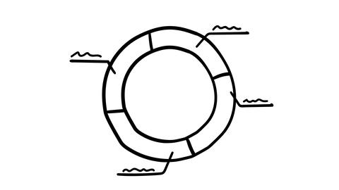 Infographic element - a circle divided into segments Footage