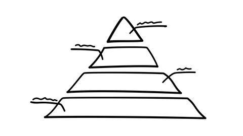 Infographic element - a pyramid divided into parts Footage