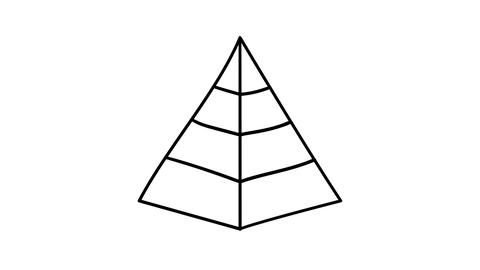 A hand-drawn infographic element - a three-dimensional pyramid Footage