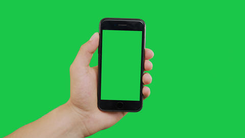 Scroll Smartphone Green Screen Archivo