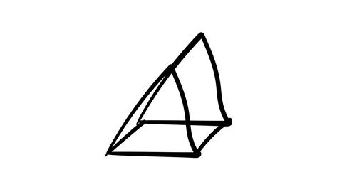 Freehand drawing infographic element - isometric pyramid Footage