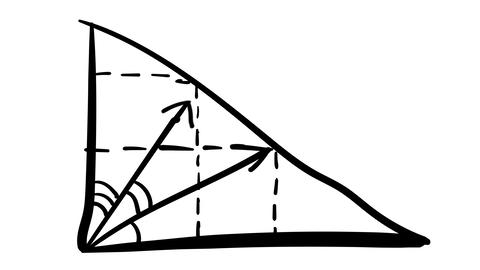 A hand-drawn sketchy graphic with a coordinate plane Footage