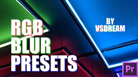 RGB Blur Presets Premiere Proテンプレート