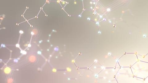 Molecular structure Bh white2 4k Animation
