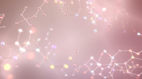 Molecular structure Bh white1 4k Animation