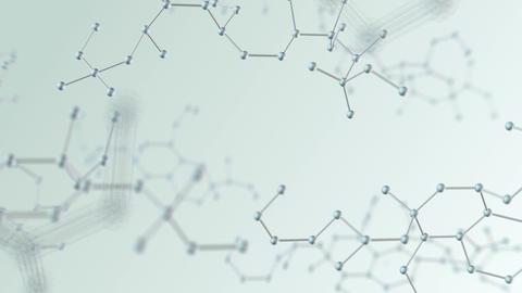 Molecular structure Bh white4 4k Animation