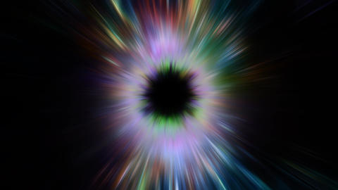 Space 2310: Light streams into a black hole in outer space Animation