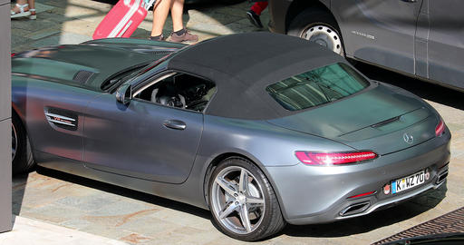 Silver Mercedes AMG GT Roadster Footage