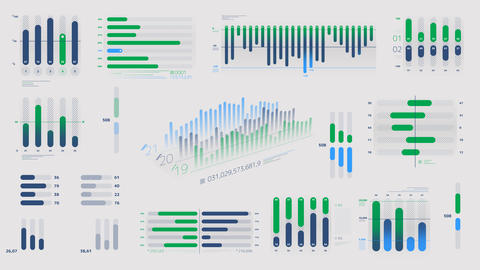 Infographics - color diagrams on the alpha channel Videos animados