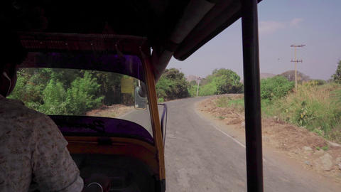 Riding on a vehicle in India Footage