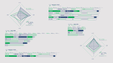 Large infographic schemes on the alpha channel Videos animados