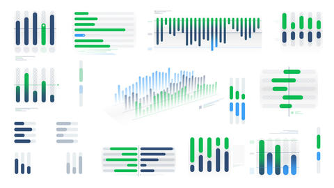 Animated infographics diagrams on the white background Videos animados