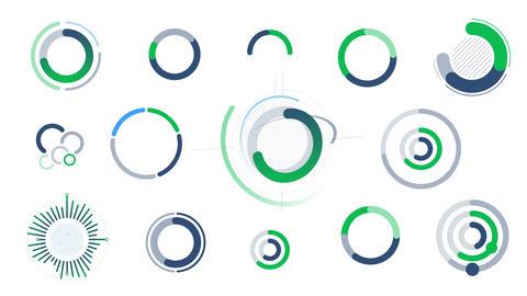 Circle infographics - charts, charts and diagrams Animation