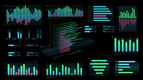 Set of decorative infographic data Animation