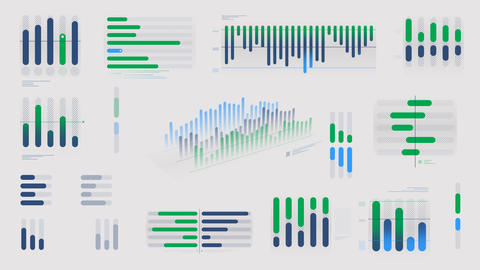 Animated infographics diagrams on alpha channel Videos animados