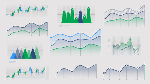 Linear and candlestick charts without data Videos animados