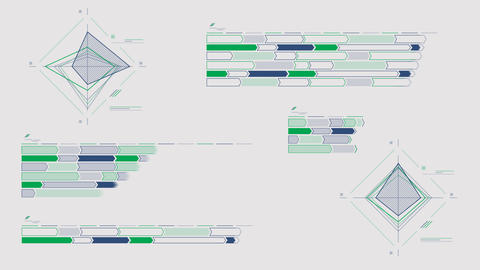 Infographic schemes on the alpha channel Videos animados