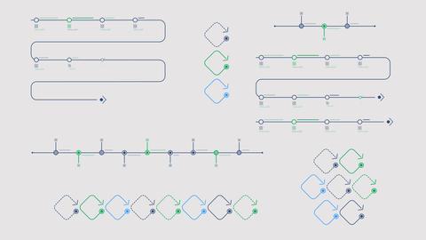Timeline for infographics on alpha channel Animation