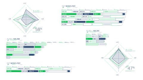 Large infographic schemes on the white background Videos animados