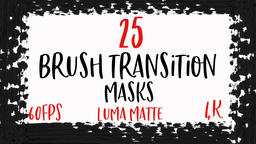 Abstract Paint Brush Transitions Reveal Pack with Luma Matte (Transparency) Animation