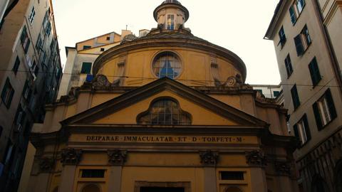 The Church of San Torpete, Piazza di San Giorgio, ancient forum of the Roman Footage
