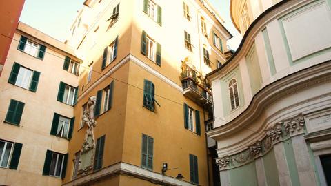 Church of San Giorgio, in the historic center of Genoa Footage