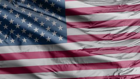USA Flag Real Animation Loop Animation