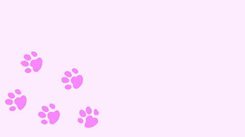 猫の足跡(肉球) CG動画