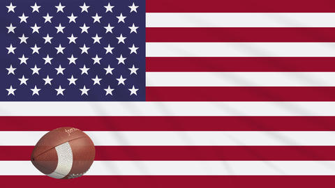 USA Flag And Sports Soccer Balls With US Flag 0