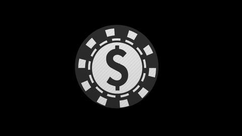 casino coin turning animation alpha Animation