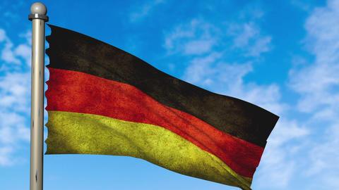 Germany flag waving animation with alpha Animation