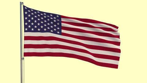 US flag and appearing inscription 4th of July on sunny…, Stock Animation