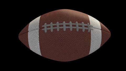 American football ball flies and pulls, alpha loop Animation