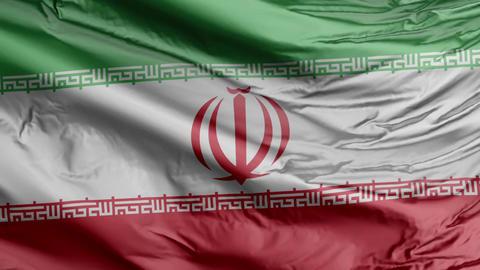 Iran Flag Real Animation Loop Animation